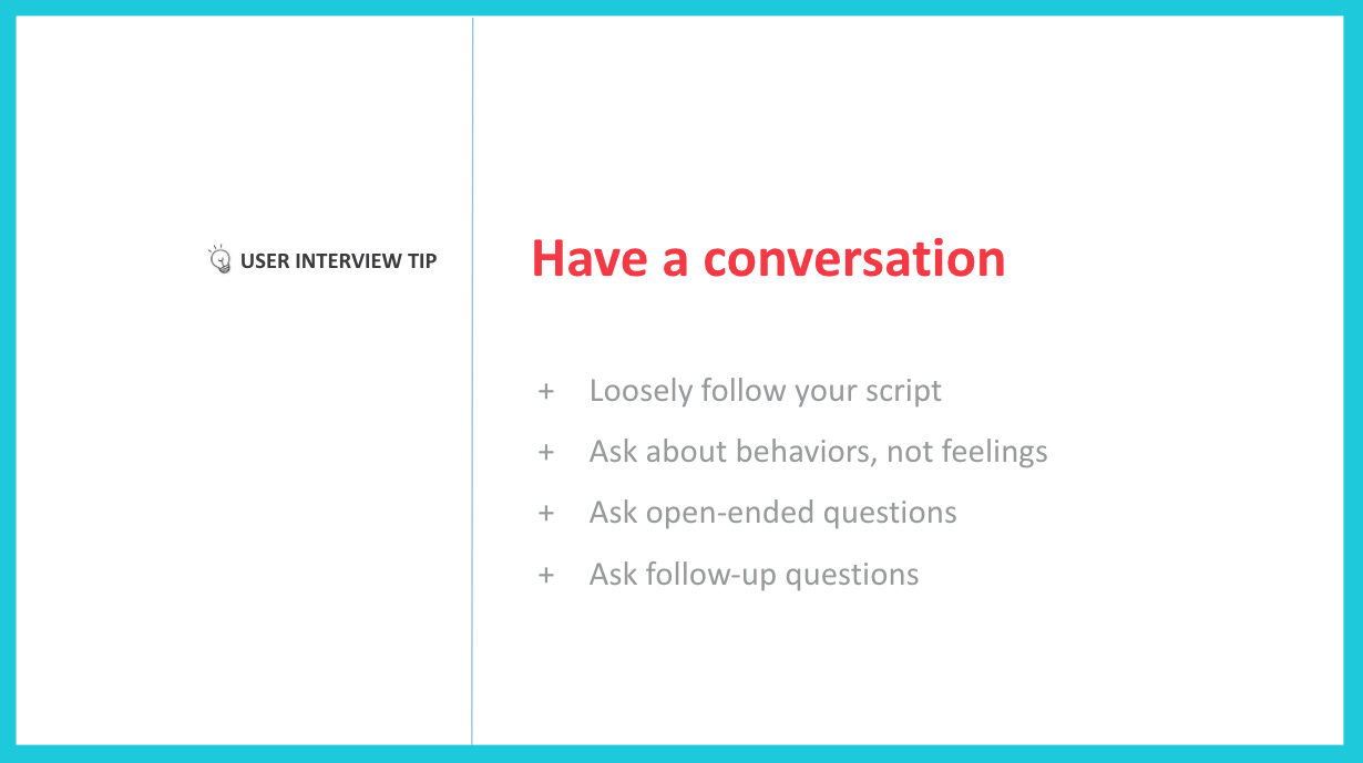 Tips for Conducting User Research Interviews